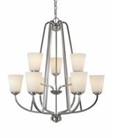 Picture for category Artcraft AC10469BN Hudson Chandeliers 29in Brushed Nickel 9-light