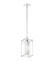 Picture for category Dainolite CBE-61P-PC Cubo Pendants 7in Chrome Steel 1-light