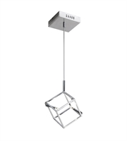 Picture for category Dainolite CBE-52P-PC Cubo Pendants 7in Polished Chrome Steel 2-light