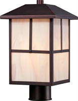 Picture for category Nuvo 60/5675 Tanner Outdoor Lighting Lamps 8in Claret Bronze Glass 1-light