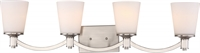 Picture for category Nuvo 60/5874 Laguna Vanity Lighting 33in Brushed Nickel Glass White Glass