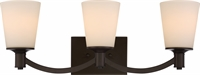 Picture for category Nuvo 60/5923 Laguna Wall Lantern 24in Aged Bronze Glass White Glass 3-light