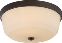 Picture for category Nuvo 60/5924 Laguna Ceiling Medallion Lighting 15in Aged Bronze Glass 3-light