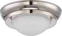 Picture for category Nuvo 62/513 Poke Ceiling Medallion Lighting 7in Polished Nickel Glass 1-light
