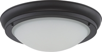 Picture for category Nuvo 62/515 Poke Ceiling Medallion Lighting 10in Aged Bronze Glass Satin White