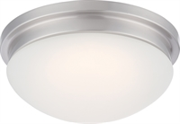Picture for category Nuvo 62/606 Spector Ceiling Medallion Lighting 12in Brushed Nickel Glass