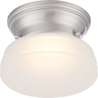 Picture for category Nuvo 62/612 Bogie Ceiling Medallion Lighting 6in Brushed Nickel Glass Frosted