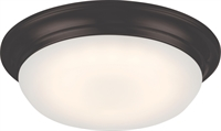Picture for category Nuvo 62/702 Libby Ceiling Medallion Lighting 11in Aged Bronze Glass Frosted