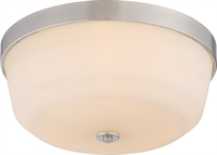 Picture for category Nuvo 60/5824 Laguna Ceiling Medallion Lighting 15in Brushed Nickel Glass