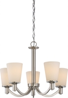 Picture for category Nuvo 60/5825 Laguna Ceiling Medallion Lighting 23in Brushed Nickel Glass