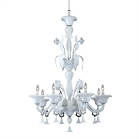 Picture for category Eurofase 22945-013 Veronica Chandeliers WHITE 8-light
