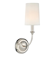 Picture for category Crystorama 2241-PN Sylvan Wall Sconces Nickel Tones Shade: White Silk