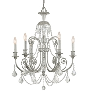 Picture for category Crystorama 5116-OS-CL-S Regis Chandeliers Silver Tones