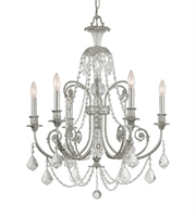 Picture for category Crystorama 5116-OS-CL-SAQ Regis Chandeliers Silver Tones Crystal: Clear Spectra