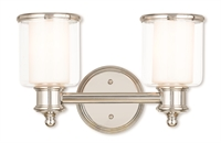 Picture for category Livex 40212-35 Middlebush Bath Lighting 15in Nickel Tones Steel 2-light