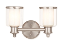 Picture for category Livex 40212-91 Middlebush Bath Lighting 15in Nickel Tones Steel 2-light