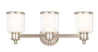 Picture for category Livex 40213-35 Middlebush Bath Lighting 24in Nickel Tones Steel 3-light