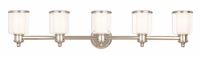 Picture for category Livex 40215-35 Middlebush Bath Lighting 45in Nickel Tones Steel 5-light