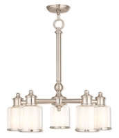 Picture for category Livex 40204-91 Middlebush Chandeliers Nickel Tones Steel 5-light