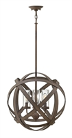 Picture for category Hinkley 29703VI Carson Outdoor Lighting Lamps 19in Vintage Iron Metal 3-light