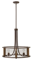Picture for category Hinkley 4824IR Beckett Chandeliers 22in Iron Rust Steel 3-light