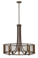 Picture for category Hinkley 4826IR Beckett Chandeliers 30in Iron Rust Steel 5-light