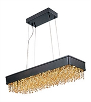 Picture for category Maxim 39659SHBZ Mystic Island Lighting 12in Bronze Metal Crystal 1-light