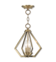 Picture for category Livex Lighting 40922-01 Mini Chandeliers Antique Brass Steel 3-light