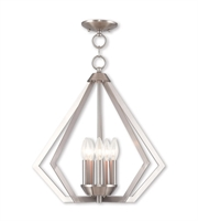 Picture for category Livex Lighting 40925-91 Chandeliers Brushed Nickel Steel 5-light