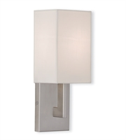 Picture for category Livex Lighting 51101-91 Wall Sconces 5in Brushed Nickel Steel 1-light
