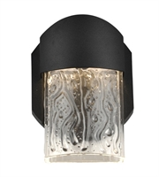 Picture for category Access 20043LEDDMG-BL/CLR Mist Wall Sconces 4in Black Aluminum 1-light