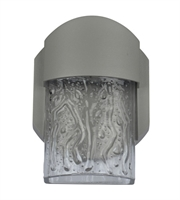 Picture for category Access 20043LEDDMG-SAT/CLR Mist Wall Sconces 4in Satin Aluminum 1-light