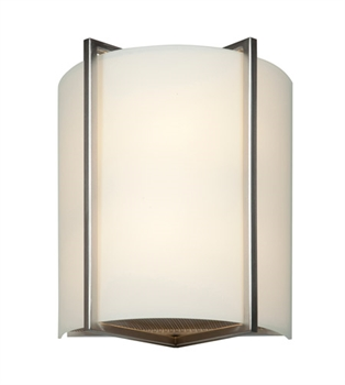 Picture of Access 20451LEDD-BS/OPL Vector Wall Sconces 9in Brushed Steel Metal 1-light