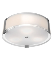 Picture for category Access 50121LEDD-BS/OPL Tara Flush Mounts Brushed Steel Metal 1-light