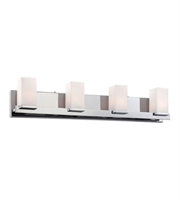 Picture for category Elk BV1534-10-15 Sleek Bath Lighting 30in Chrome Metal Glass 4-light