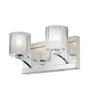 Picture for category Elk BV3002-0-15 Tiara Bath Lighting 10in Chrome Metal Glass 2-light
