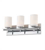 Picture for category Elk BV6033-10-15 Barro Bath Lighting 19in Chrome Metal Glass 3-light