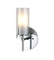 Picture for category Elk BV671-90-15 Tubolaire Wall Sconces 5in Chrome Metal Glass 1-light