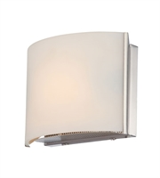 Picture for category Elk BV6T1-10-16M Pandora Bath Lighting 7in Satin Nickel Metal Glass 1-light