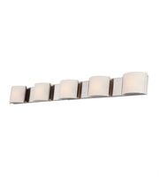 Picture for category Elk BV6T5-10-16M Pandora Bath Lighting 48in Polished Matte Nickel 5-light