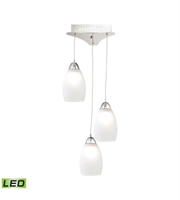 Picture for category Elk LCA203-10-15 Buro Pendants 9in Chrome Metal Glass 3-light