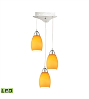Picture for category Elk LCA203-8-15 Buro Pendants 9in Chrome Metal Glass 3-light