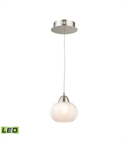 Picture for category Elk LCA401-10-16M Ciotola Pendants 6in Satin Nickel Metal Glass 1-light