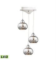 Picture for category Elk LCA403-113-15 Ciotola Pendants 10in Chrome Metal Glass 3-light