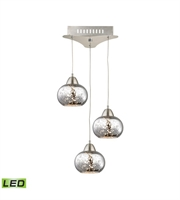 Picture for category Elk LCA403-113-16M Ciotola Pendants 10in Satin Nickel Metal Glass 3-light
