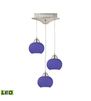 Picture for category Elk LCA403-7-16M Ciotola Pendants 10in Satin Nickel Metal Glass 3-light