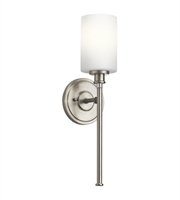 Picture for category Kichler 45921NI Joelson Wall Sconces 5in Brushed Nickel Steel 1-light