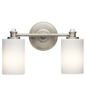 Picture for category Kichler 45922NI Joelson Bath Lighting 14in Brushed Nickel Steel 2-light