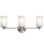 Picture for category Kichler 45923NI Joelson Bath Lighting 24in Brushed Nickel Steel 3-light