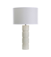 Picture for category Dimond 8989-002 Round Stacked Table Lamps 16in White Marble Marble 1-light